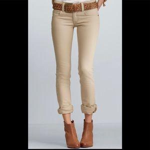 Cabi Lou Lou tan straight leg jeans size 8